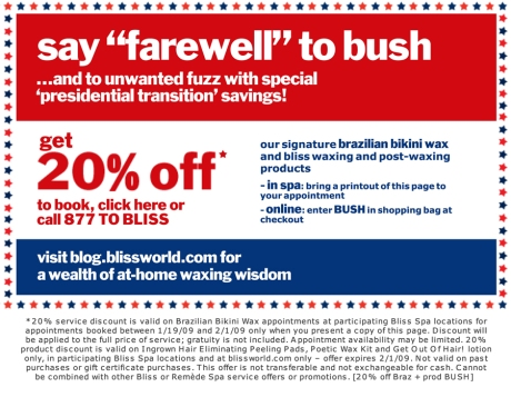 "say ""farewell"" to bush"