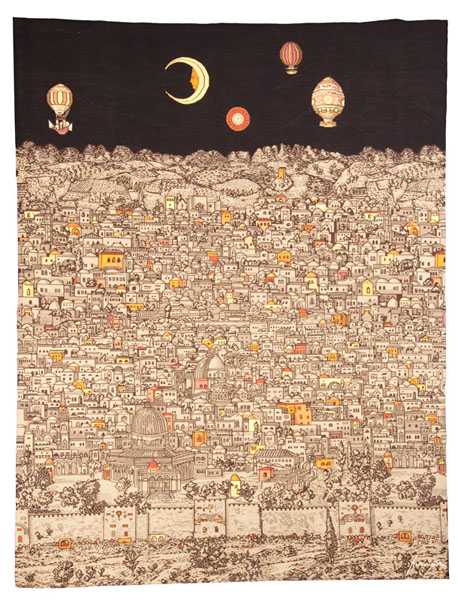 Fornasetti - Gerusalemme di Notte - (Tapestry)